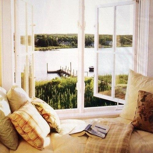 Отличный вид из окна и книга.