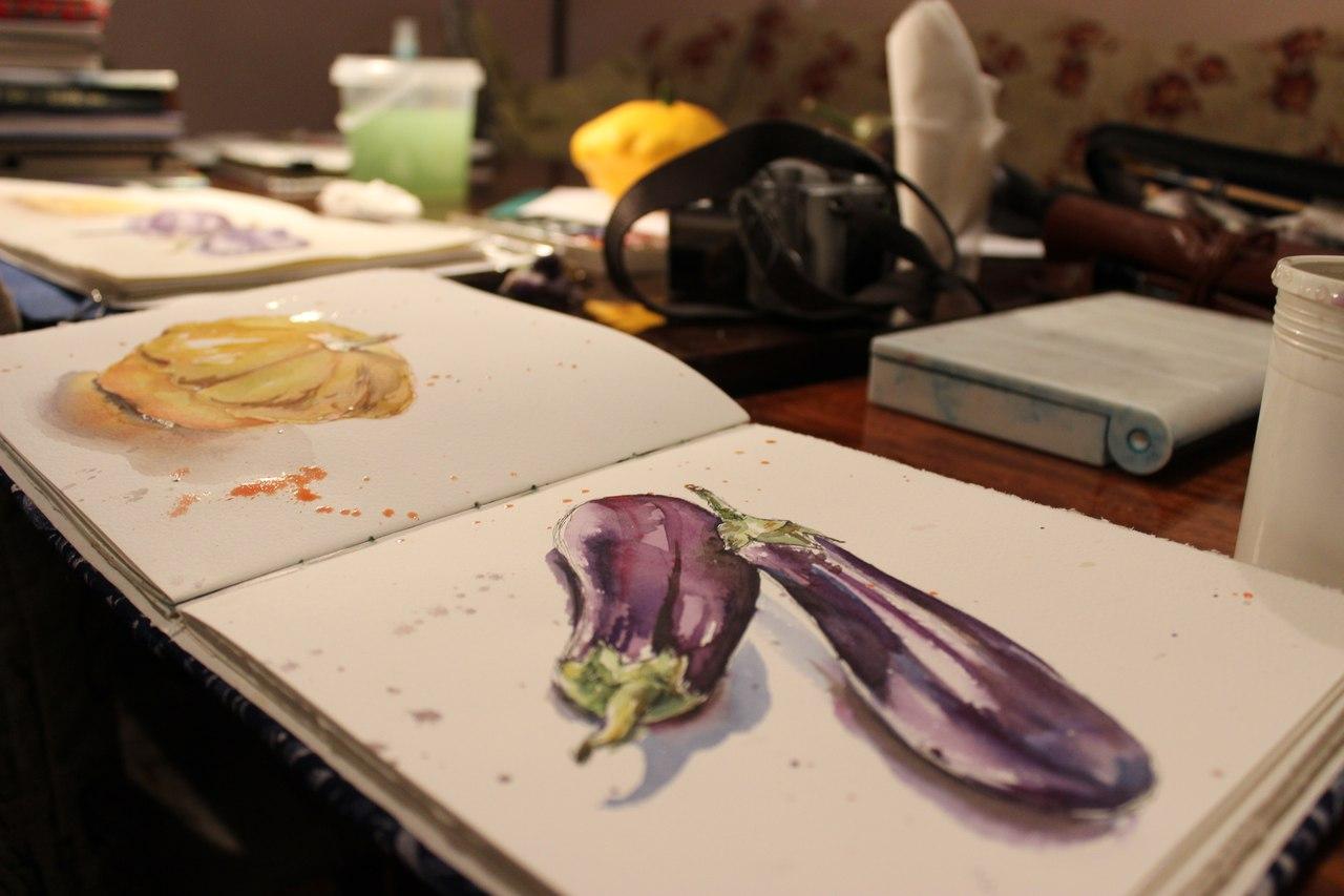 Ботаническая зарисовка Ольги Валеевой