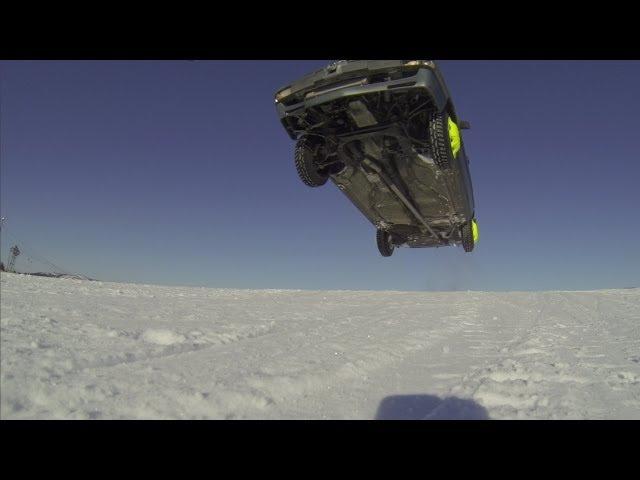 Audi 200 Turbo driving Ski slopes