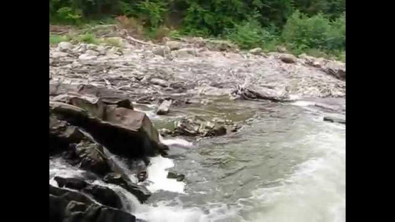 река Уж пороги в окрестностях села Забродь Закарпатская область
