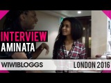 Aminata Savadogo Latvia 2015 at London Eurovision Party - Interview | wiwibloggs