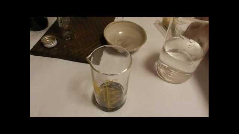 Химия из батарейки - Хлорид аммония - Хлорид олова(II) реактив на ионы золота