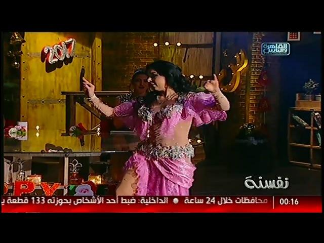 Alla Kushnir bellydancer New Year 2017 program on TV channel Al Kahera Wal Nas