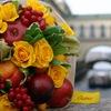 """Букеты из фруктов, ягод, цветов. СПб. """"Quince"""""""