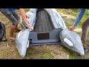 Надувная лодка ПВХ Навигатор ЛК 360 AIR с килевым надувным дном, сборка.
