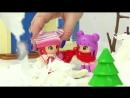 Видео для девочек. Куколки Мармеладка, Конфетка и снеговик