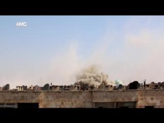 Сирия.Бомбовый удар по террористам в районе Ханано,Алеппо..