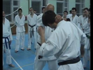 Shihan Diankov showing bunkai at Karate-Jutsu Seminar-Moscow, Russia