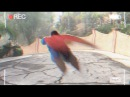 FLYING MAN caught on SECURITY CAM - real life SUPERHERO?!