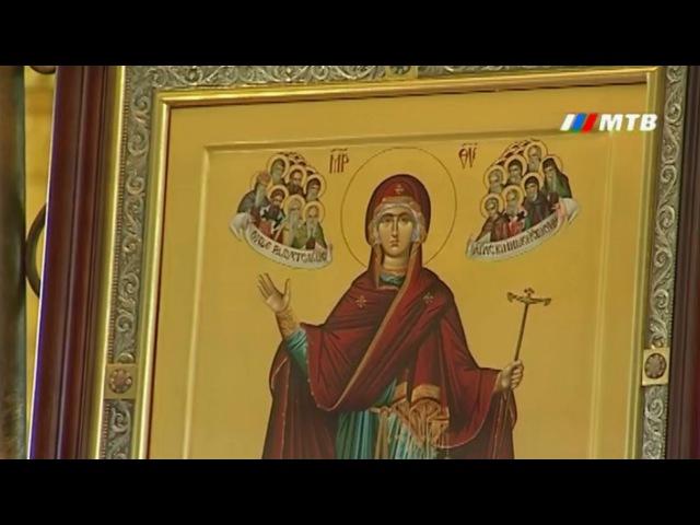 Икона Божией Матери Игуменья Афона или Экономисса прибыла в Волгоград.