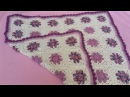 Daisy Granny Square Blanket - Part 1 Crochet Tutorial - 8 Petal Flower