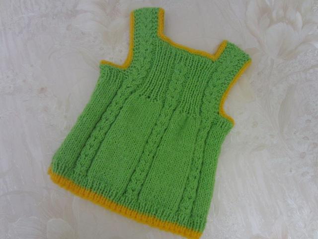 Вяжем платье-сарафанчик спицами / knit dress