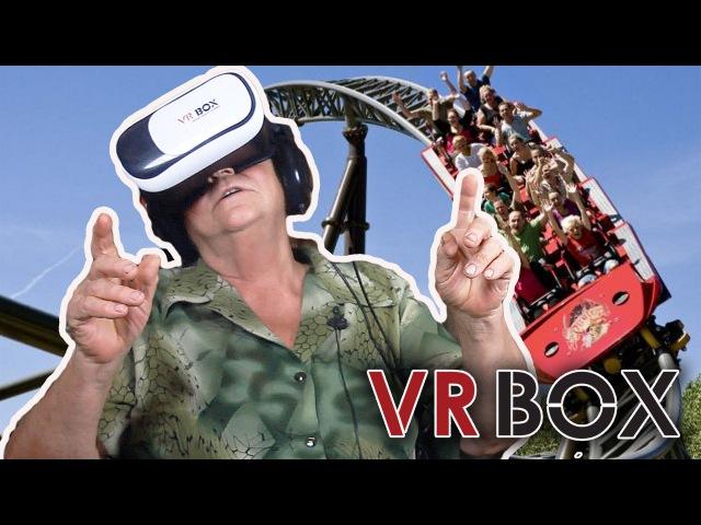 Бабушка реагирует на виртуальную реальность (очки VR BOX)