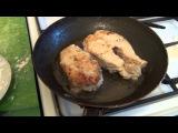 Готовим стейк трески на сковороде