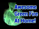 How To Ghastly Green Fire, At Home! (And Why It Burns Green...)