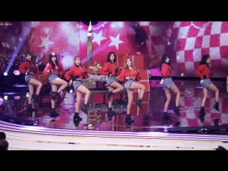 161224 fancam Magic Perf. + AOA - Heart Attack & Good Luck (with Gag women) @ KBS Entertainment Awards  2016