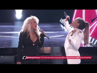 Ariana Grande  Christina Aguilera Sing 'Dangerous Woman' To
