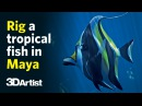 Rig and animate a tropical fish in Maya