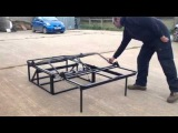 Campervan Rock n Roll Bed with Easy Lift Feature - VW T4 &amp VW T5