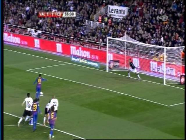 Lionel Messi Vs Diego Alves Valencia Vs Barcelona COpa De La Rey 2012 Messi Miss Penalty