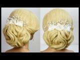 Wedding prom updo. Hairstyles for long hair tutorial
