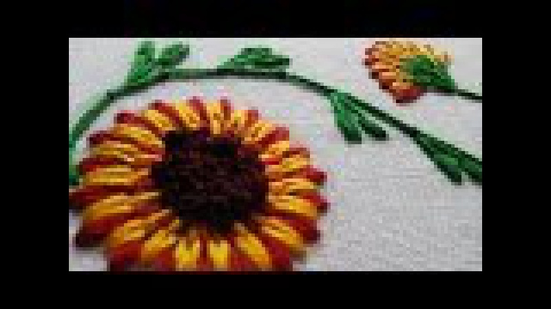 Stitching Embroidery Tutorial | Long and Short Stitch | Beautiful Flower | HandiWorks 26
