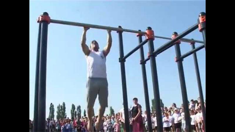 Краснояружские спортсмены показали чудеса на турнике: в поселке открылась площадка для воркаута » Freewka.com - Смотреть онлайн в хорощем качестве