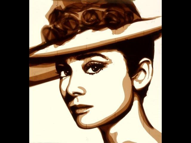 Audrey Hepburn - Tape Art by Max Zorn