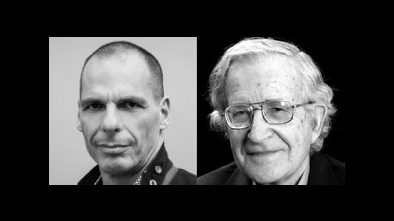 Yanis Varoufakis with Professor Noam Chomsky at NYPL, April 16, 2016 | DiEM25