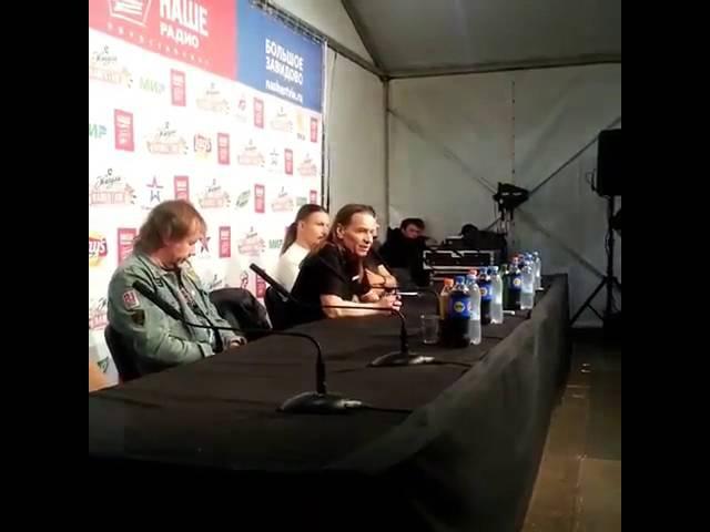 09.07.2016 группа Кипелов на пресс-конференции Нашествия-2016 [фрагмент]