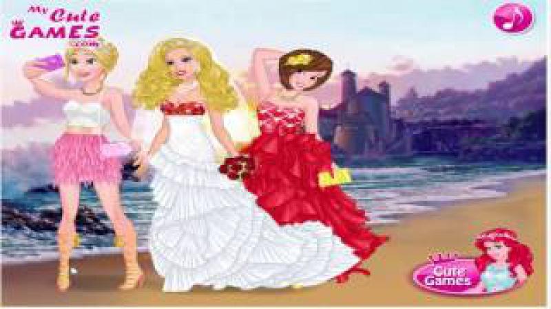 Barbie's Wedding Selfie With Princesses Барби Свадьба селфи С принцесс