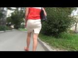 SEXy Lady in Mini Skirt !!! BIG ASS !!! Очень Сексуальная Леди в короткой юбке и с Большой Попой !!! Part Two !