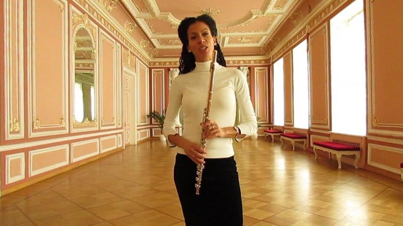 Приглашение от Ксении Куэльяр на концерт музыки для флейты Барокко