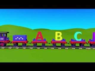Apprendre l'alphabet en français avec le train Tchou-Tchou ! Chansons pour petits en français