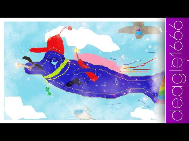 Бенг, бенг, бенг, Дельфин в здании - Speed Art (Paint) | deagle1666