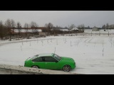 Opel Monza Декабрь 2016 пробует дрифт