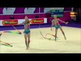 Russia. 2016 European Rhythmic Gymnastics Championships. EF. Ribbons
