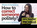 How to correct someone politely? Polite English Phrases (Free English Lessons)
