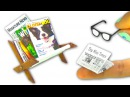 DIY Miniature magazines, newspapers, glasses and magazine rack (that opens/closes!) - YolandaMeow♡