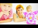 Видео для детей. Готовка на кухне. Фёрби, Ред, Хелло Китти. Маша с девочками кормят игрушки.