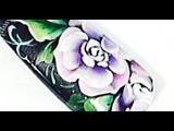 Nail đẹp 1 - Vẽ cọ bản - KIM NHUNG ETV - Vẽ móng hoa hồng