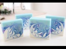 Making and Cutting the ocean wave soap