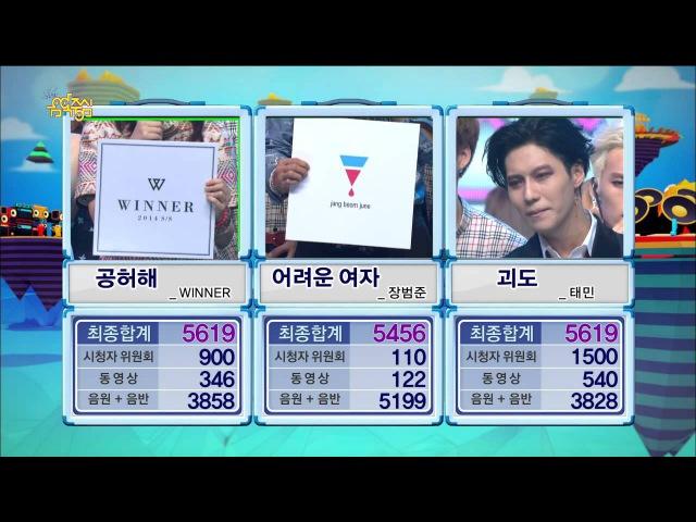 【TVPP】Taemin(SHINee) - Winner Interview of 'Danger', 태민(샤이니) - 괴도 1위 수상 소감 @ Show Music core