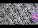 Рельефный узор крючком Бархатные звезды Видеоурок по вязанию Embossed Velvet Star Crochet S