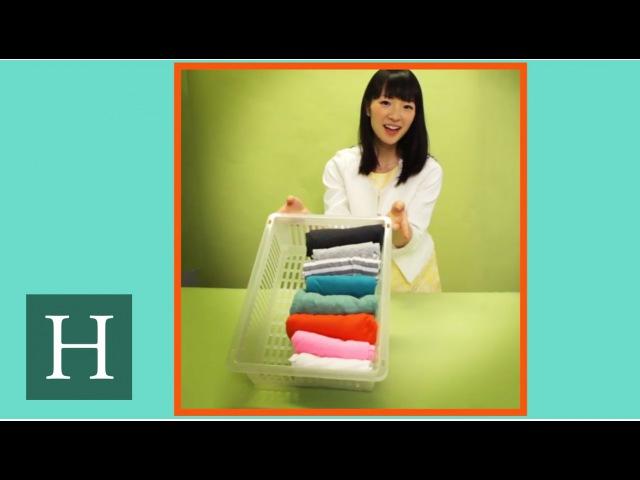 Marie Kondo's Trick For Folding T Shirts