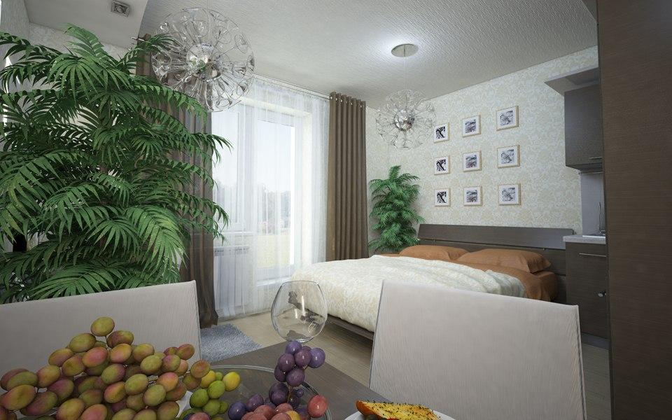 Проект под студии 20-25 м от компании-застройщика Стройпромсервис, Рязань.