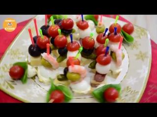 Топ - 5 Новогодних Канапе! Семейная кухня.