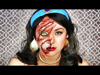 DISNEY'S JASMINE EYE OF THE TIGER MAKEUP TUTORIAL!