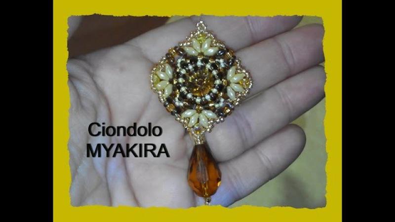 Tutorial Ciondolo MyaKira con perline e Swarovski
