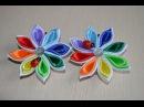 Самодельные цветы канзаши Мастер класс самодельные цветы из атласных лент своими руками DIY kanzashi